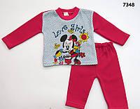 Теплый костюм Minnie Mouse для девочки. 1-2 года