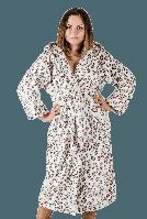 Халат женский махровый леопардовый