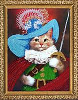 """Набор для вышивания бисером """"Кот в сапогах"""""""