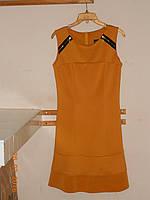 Платье цвета горчицы со змейками