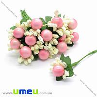 Тычинки на проволоке с ягодкой, Розово-кремовые, 1 шт (DIF-015417)