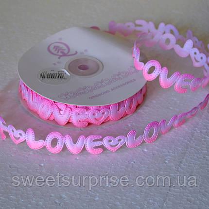 Лента декоративная 20 мм (love), фото 2