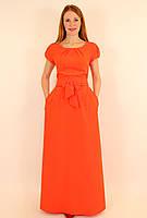 Платье с длинной расклешенной юбкой 44-50 р