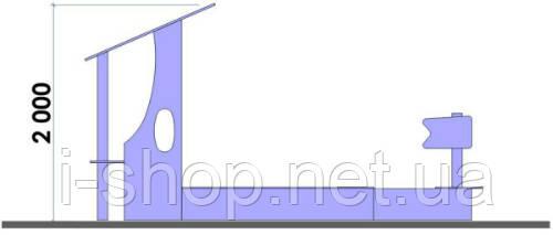Песочница Кораблик (3,2 х 1,8 м) KIDIGO PIS007, фото 2