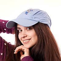 Кепка женская голубая 2