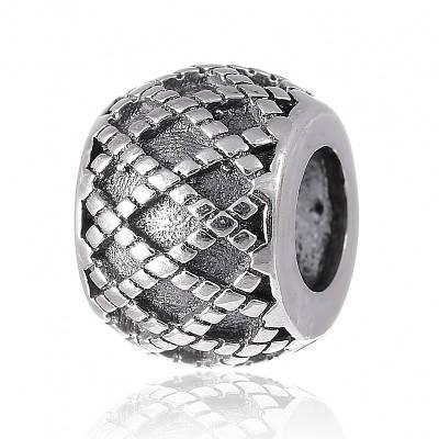Шарм бусина Пандоры Ромбы серебро 925 пробы П5/8094