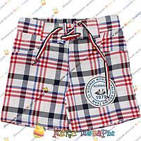 Детские шорты в клетку для мальчика от 3 до 7 лет (4208-2)