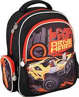 Рюкзак школьный Kite Hot Wheels 512 1 отделение, 3 кармана (1-4 класс)