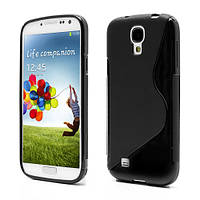 Чехол TPU S формы на Samsung Galaxy S 4 IV i9500, черный