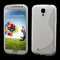 Чехол TPU S формы на Samsung Galaxy S 4 IV i9500, прозрачный