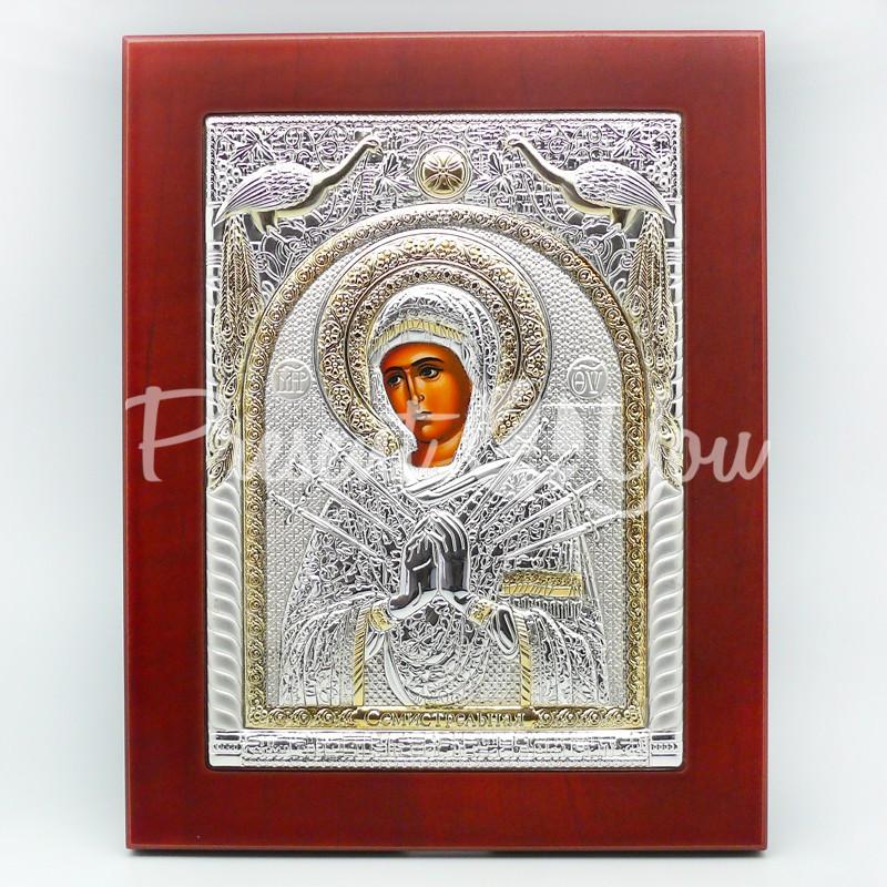 Икона Божией Матери «Семистрельная», 18,8х23,7 см.
