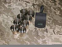 Набор рюмок из нержавеющей стали в чехле на 8 персон 30 грамм.
