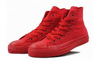 Детские кеды Converse All Star High Mono Red