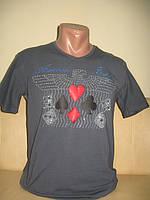 Мужская футболка графит ARMANI, размер только M, можно и женщинам, унисекс