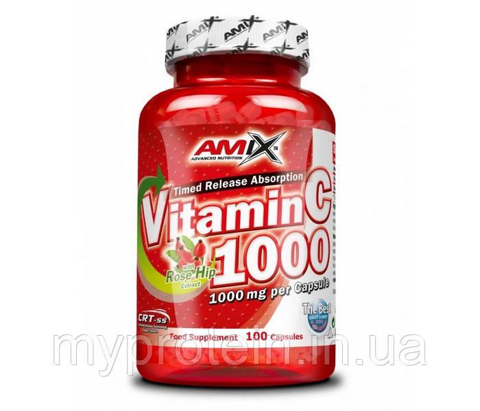 Витамины и минералы Vitamin C 1000 with rose hip extract (100 caps)