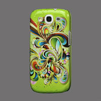 """Чехол пластиковый """"Flora Flowers"""" на Samsung Galaxy S 3  III I9300, капли дождя"""