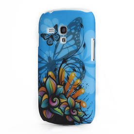 "Чехол пластиковый ""Colourful Flower Butterfly"" на Samsung Galaxy S 3  mini III I8190"