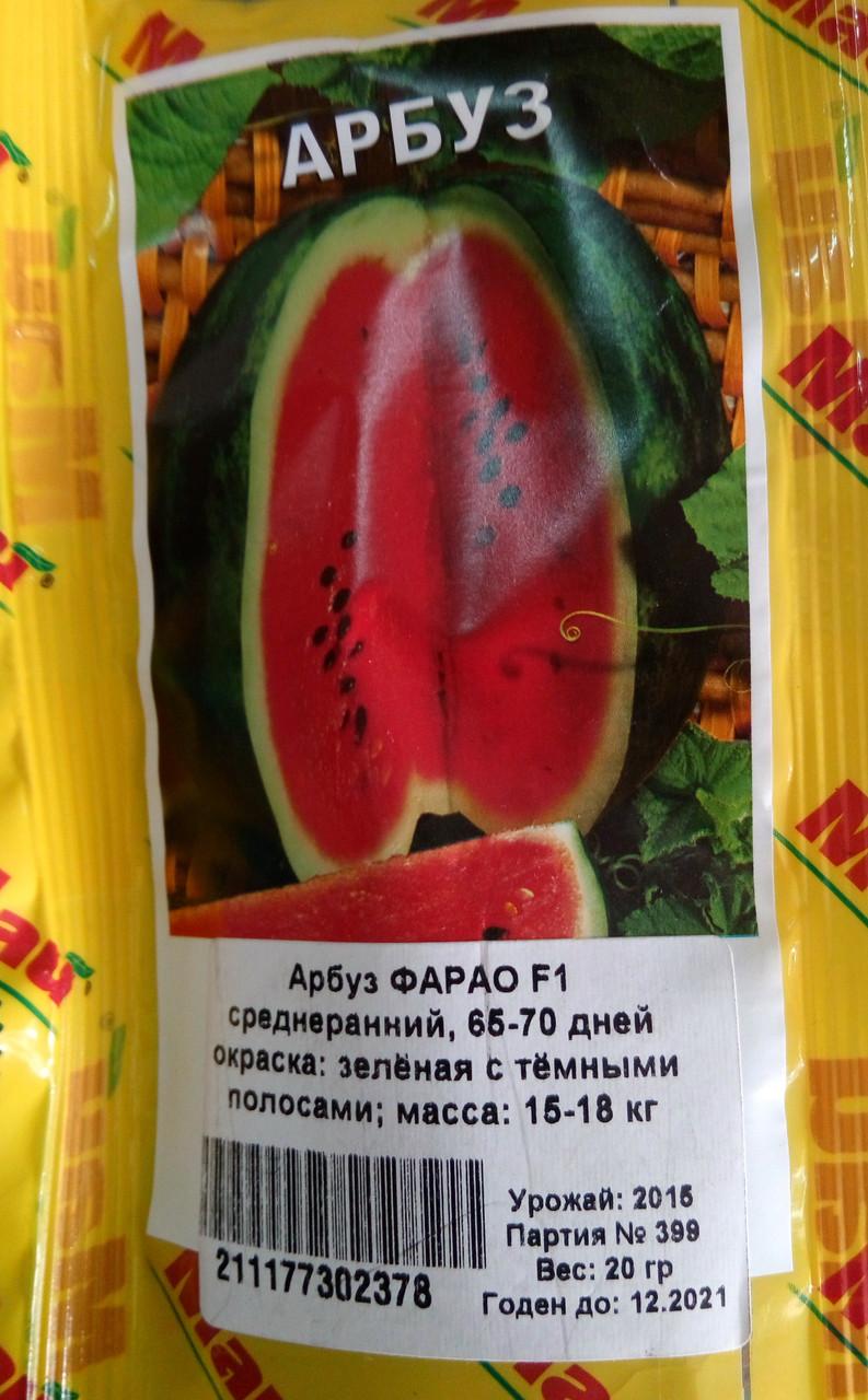 Семена Арбуза 20гр сорт Фарао F1