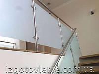 Перила из нержавейки на заказ стали со стеклом - стандарт 0005