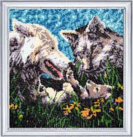 """Набор для вышивания бисером """"Первенец волки"""""""