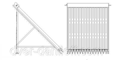 Вакуумный солнечный коллектор JX SPС-10(1) (для плоской крыши), фото 2
