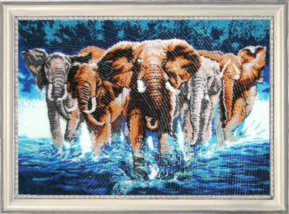 """Набор для вышивания бисером """"Африканские слоны"""", фото 2"""