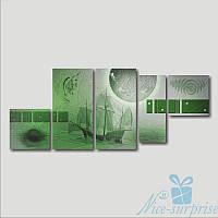 Модульная картина Летучий голландец из 5 фрагментов