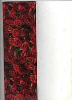 """Бумага гофрированная """"Розы"""" """"55%-110% 26.4-34г/м2, дл. 200см., шир. 50см."""