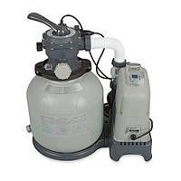 Система очистки воды: песочный фильтрующий насос со встроенным хлоргенератором Intex 28682
