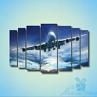 Модульная картина Самолет машина из 7 фрагментов, фото 1