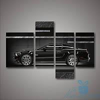 Модульная картина Форд Мустанг из 4 модулей, фото 1
