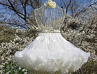 Детская пышная юбка pettiskirt Сливки