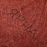 Пряжа Кид мохер (9082-рыжий),(Кид Мохер(70%),Полиамид(30%)),REX(Iталiя),25(гр),250(м)