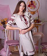Вышитое платья (ручная робота, лен), фото 1