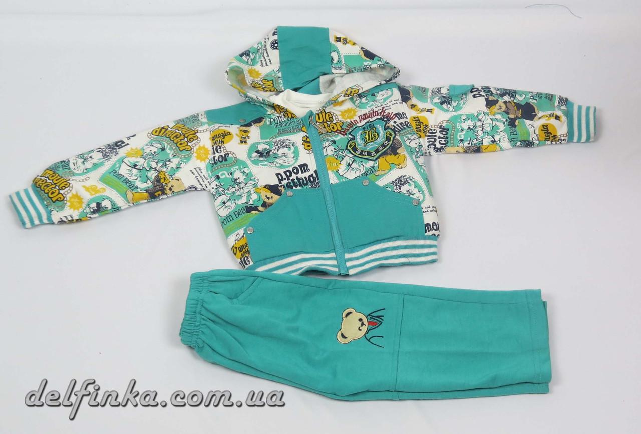Костюм для мальчика с 1 года до 3 лет, цвет:зеленый, фото 1