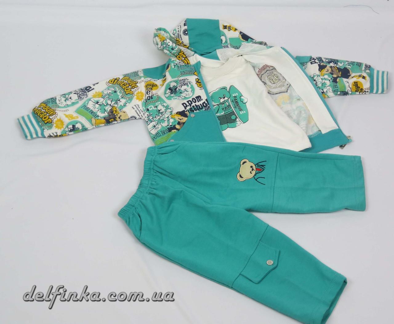 Костюм для мальчика с 1 года до 3 лет, цвет:зеленый, фото 2