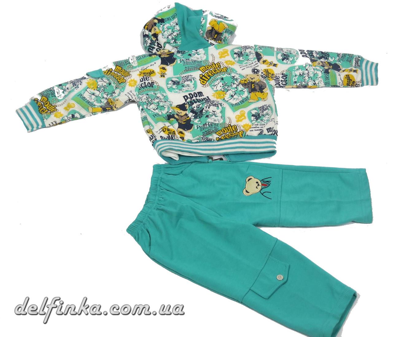 Костюм для мальчика с 1 года до 3 лет, цвет:зеленый, фото 3