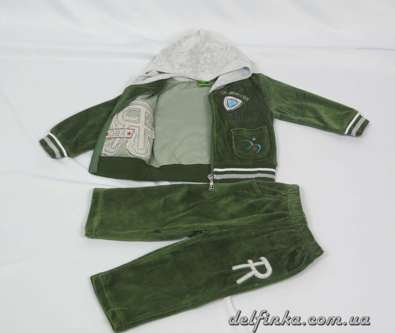 Костюм для мальчика с 1 года до 3 лет, цвет: зеленый, фото 2