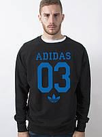 Черный свитшот Adidas 03 (Адидас)