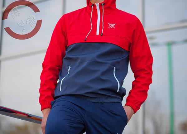 Анорак BRAT, красно-синий, ветровка, фото 2