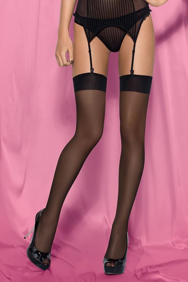 Классические нейлоновые чулочки Obsessive S800 stockings