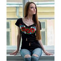 Женская вышитая футболка «Мультик»