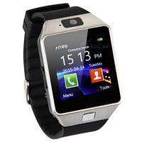 [ Умные Bluetooth часы-телефон DZ09 с камерой ] Smart Watch сенсорные блютуз часы водонепроницаемые Bluetooth, Резина/каучук, Вибрация, Будильник,