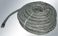 Жаростойкий шнур из керамического волокна, клейкий (10x2мм, длина 2,5м)