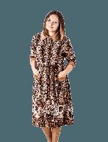Велюровый халат леопардовый