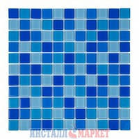 Мозаика стеклянная Aquaviva Jamaika Cristall светлая 425045