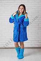 Женский халат махровый короткий, фото 1