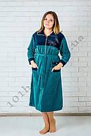 Женский велюровый халат стрекозки