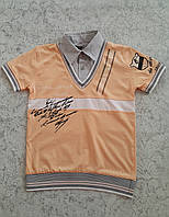 Рубашка-обманка для мальчиков 116,122,128,134 роста с коротким рукавом