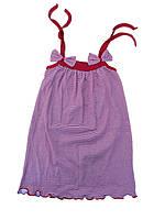 Сарафан для девочки с бантиками в полоску